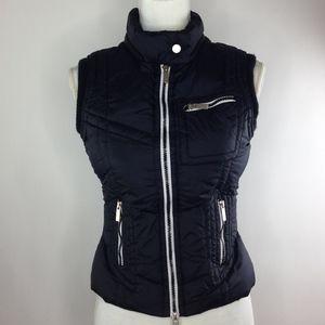Blanc Noir Size Small Down Feather Vest A-487